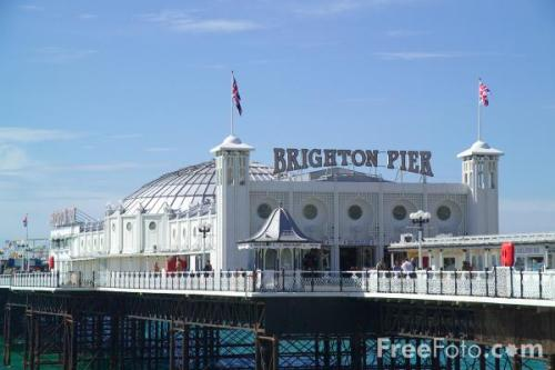 Originally built in 1981, the 'Brighton Marine Palace and Pier' (known as the Palace Pier for short) hosts arcades, rides, food, stalls and more!