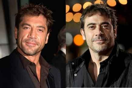 Javier Bardem on the left, Jeffrey Dean Morgan on the right.  Both totally gorgeous.